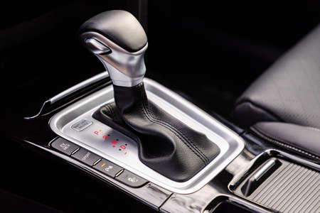 Gear shift in new modern car Stock Photo