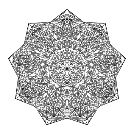 Mandalas for coloring book. Decorative round ornaments. Unusual flower shape. Oriental vector, Anti-stress therapy pattern. Weave design element. Vector file.