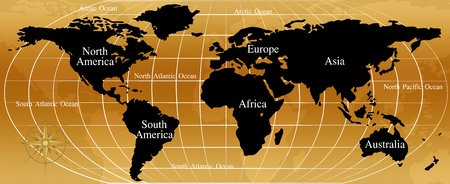map of the world Stock Photo - 9769466