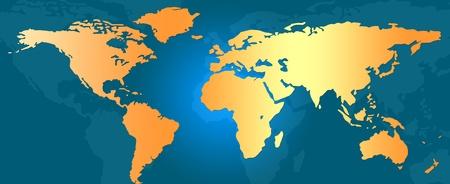 Weltkarte Standard-Bild - 9769427