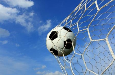 football goal: soccer  ball