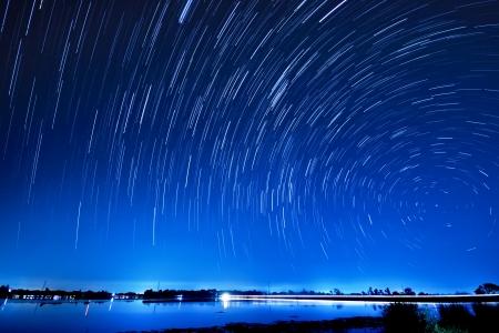 noche estrellada: Hermosa estrella Foto de archivo