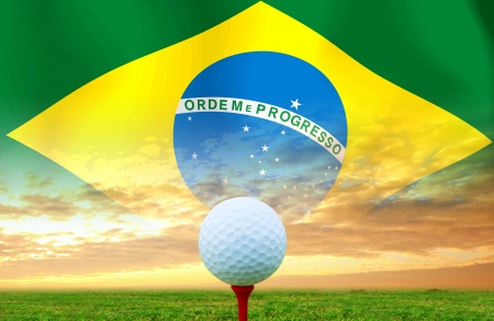 Golf ball Brazil photo