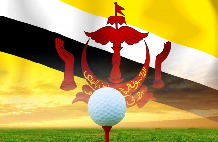 negara: Golf ball Negara Brunei Darussalam Stock Photo