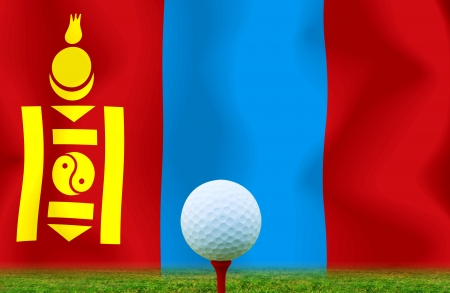 Golf ball Mongolia photo