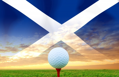 Golf ball SCOTLAND photo