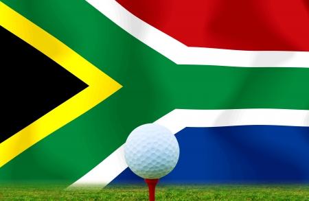 Golf ball South Africa photo