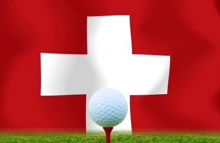 Golf ball Switzerland photo