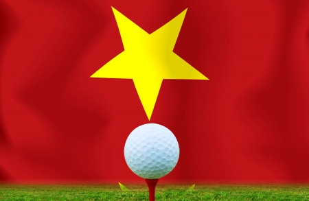 Golf ball Vietnam photo