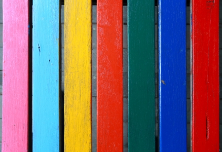 colorful wooden wall background photo