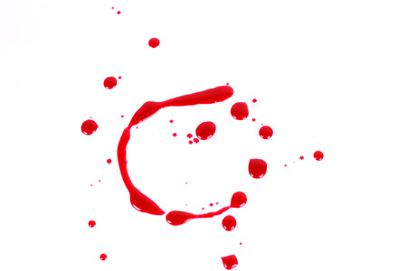 Bloody print on a white background with the letters C photo