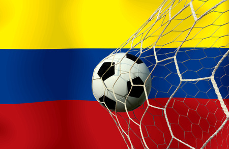COLOMBIA soccer ball photo