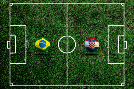 Soccer   Football    Brazil and Croatia 2014 photo
