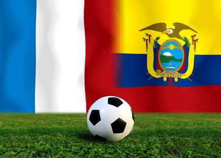 Fußball-Weltmeisterschaft 2014 (Fußball) Frankreich und Ecuador Standard-Bild - 26543496
