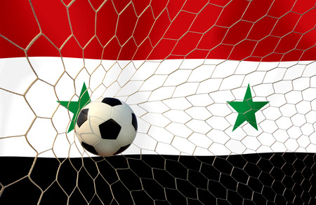syrian: Syrian soccer ball Stock Photo