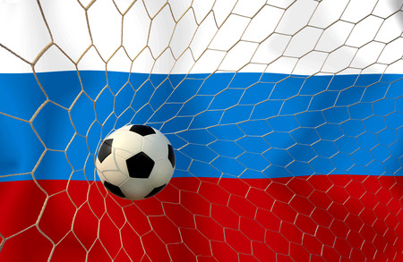 Russia soccer ball photo
