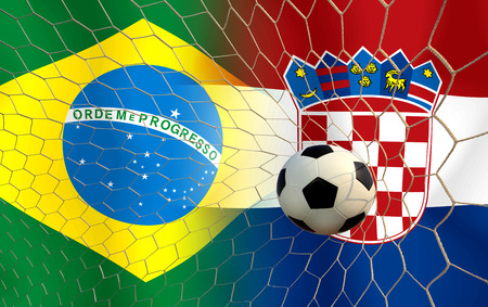 Soccer   Football    Brazil and Croatia 2014 photo