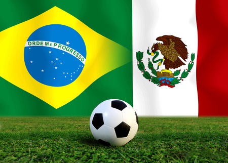 Soccer World Cup 2014   Football   Brazil and Mexico  photo
