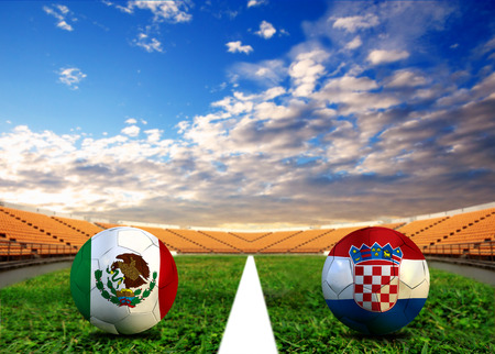 Soccer World Cup 2014   Football   Mexico and Croatia