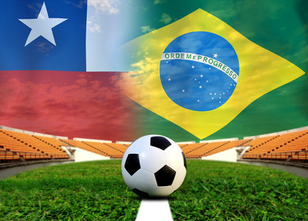 Soccer 2014   Football    Brazil and Chile photo