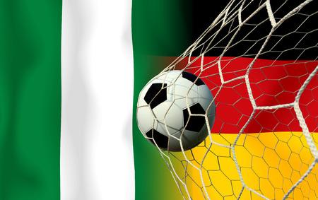 Soccer 2014   Football   nigeria and German  photo