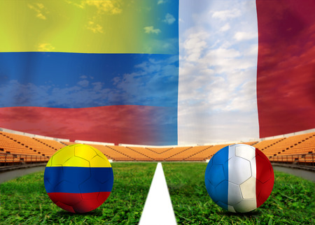 Soccer 2014   Football   Colombia and France photo
