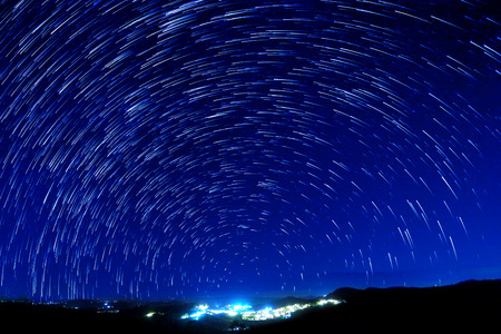 star trail: Beautiful star trail image during the night