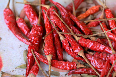 capsaicin: Dried chili a spicy condiment