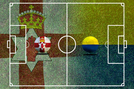 Fußball Euro 2016 (Fußball) Nordirland und der Ukraine