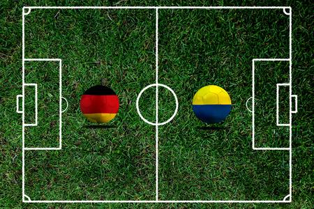 Fußball Euro 2016 (Fußball) Deutsch und Ukraine Standard-Bild