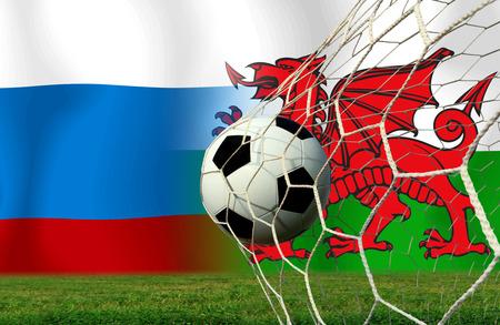 Calcio Euro 2016 (Calcio) Russia e gallese Archivio Fotografico