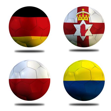 Fußball Euro 2016 (Fußball) Deutsch, Nordirland, Polen und der Ukraine