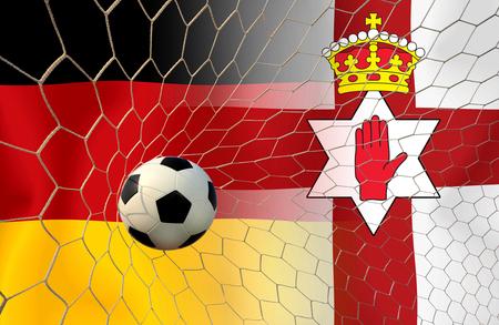 Fußball Euro 2016 (Fußball) Deutsch und Nordirland Standard-Bild