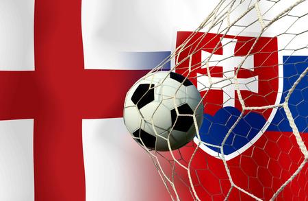 Fußball Euro 2016 (Fußball) England und der Slowakei Standard-Bild
