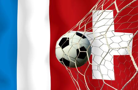 Fußball Euro 2016 (Fußball) Frankreich und der Schweiz