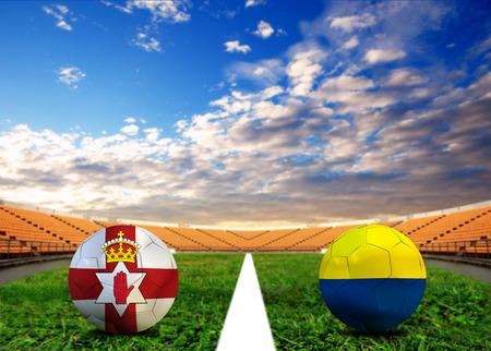 Soccer Euro 2016 ( Football )  North Ireland  and Ukraine Standard-Bild