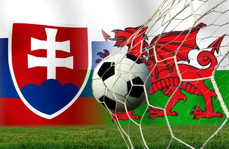 Fußball Euro 2016 (Fußball) Slowakei und Welsh