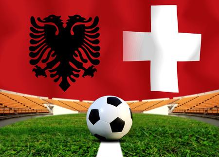 Fußball Euro 2016 (Fußball) Albanai und der Schweiz