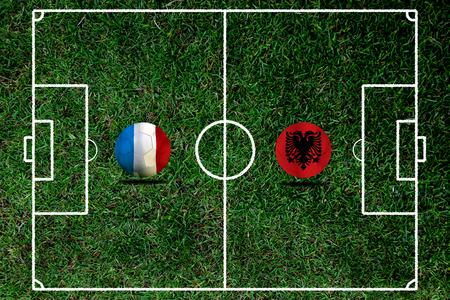 Fußball Euro 2016 (Fußball) Albanai und Frankreich Standard-Bild