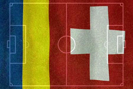 Fussball Euro 2016 (Fußball) Rumänisch und Schweiz