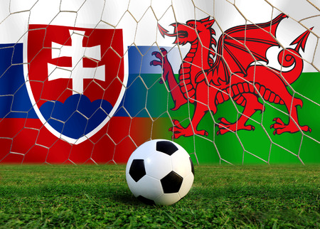welsh: Soccer  ( Football )  Slovakia  and Welsh