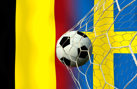 slow motion: ( Football ) Belgium and Sweden.