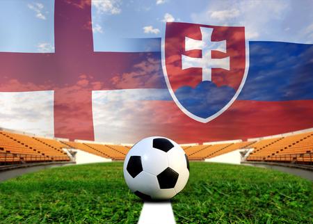 algeria: ( Football )  England  and Slovakia Stock Photo