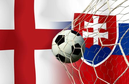 slow motion: ( Football )  England  and Slovakia Stock Photo