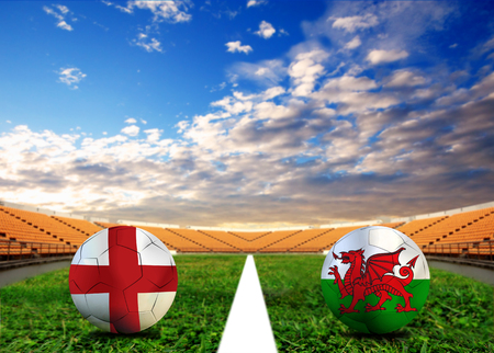 Soccer ( Football )  England  and Welsh Stock Photo