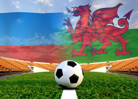 slow motion: ( Football )  Russia  and Welsh