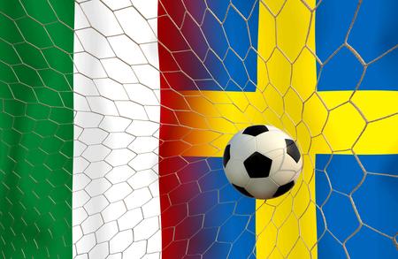 (Fußball) Italien und Schweden.