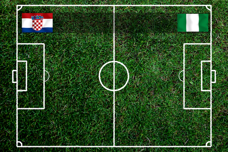Football Cup competition between the national Croatia and national Nigeria. Standard-Bild - 103455750