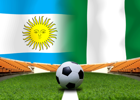 Football Cup competition between the national Argentine and national Nigeria.