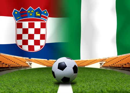 Football Cup competition between the national Croatia and national Nigeria.
